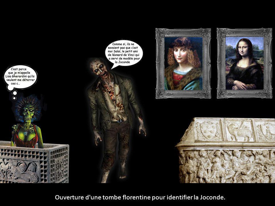 Ouverture d'une tombe florentine pour identifier la Joconde.