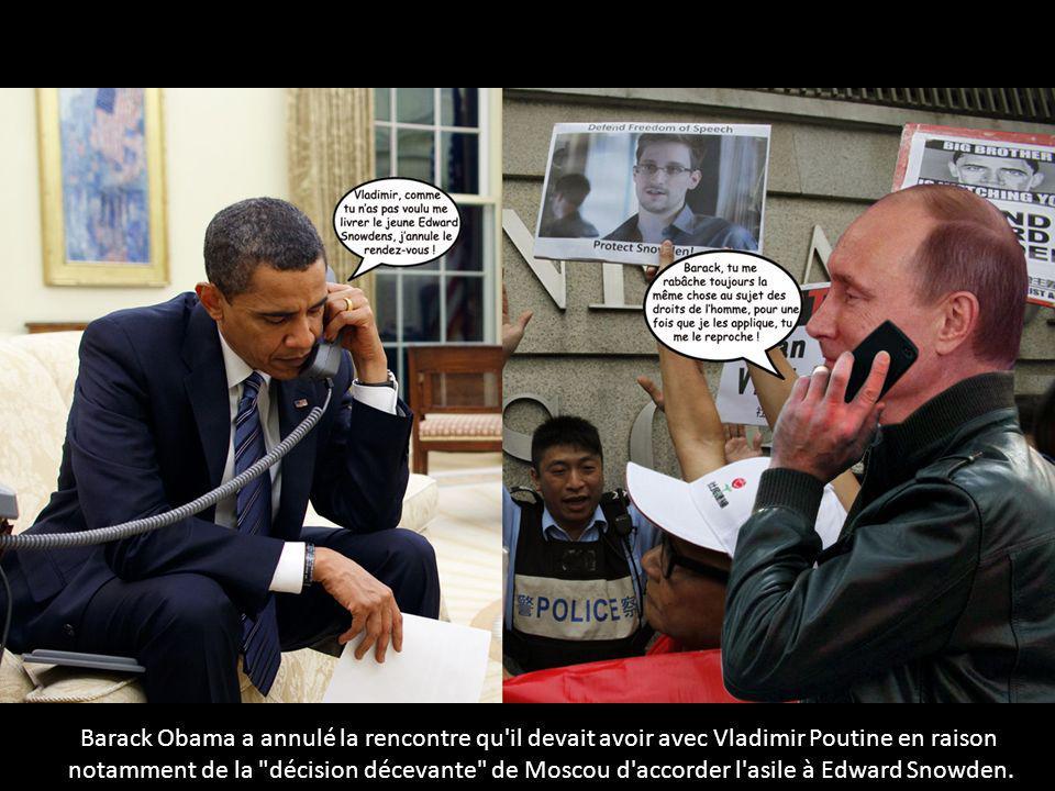 Barack Obama a annulé la rencontre qu'il devait avoir avec Vladimir Poutine en raison notamment de la