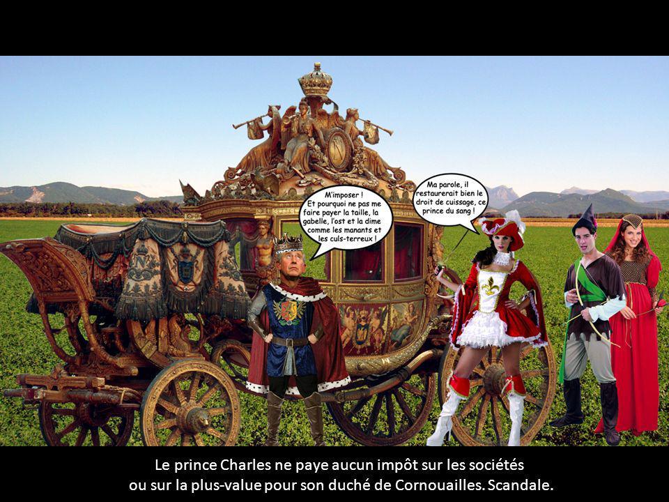 Le prince Charles ne paye aucun impôt sur les sociétés ou sur la plus-value pour son duché de Cornouailles. Scandale.