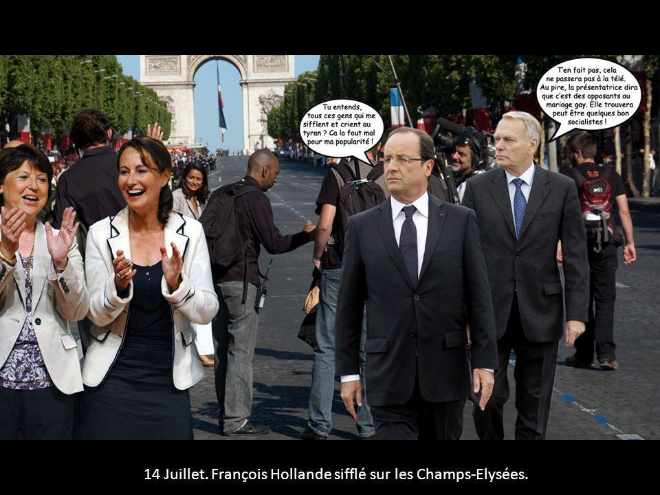 14 Juillet. François Hollande sifflé sur les Champs-Elysées.