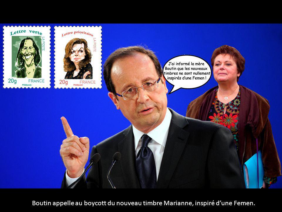 Boutin appelle au boycott du nouveau timbre Marianne, inspiré dune Femen.