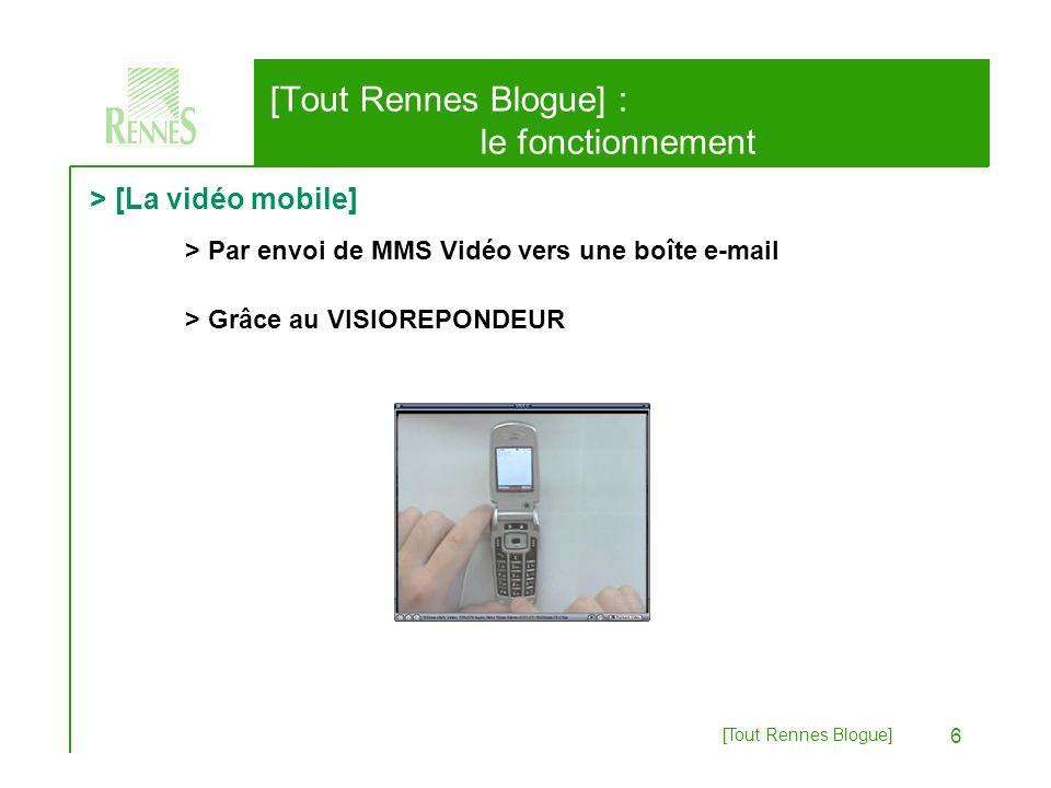 [Tout Rennes Blogue] 7 > [La vidéo mobile] [Tout Rennes Blogue] : expressions Même à vélo !AppropriationAnnonces de quartier Médiation et mémoireÉvénementsSur le vif