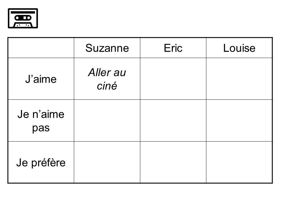 SuzanneEricLouise Jaime Aller au ciné Je naime pas Je préfère