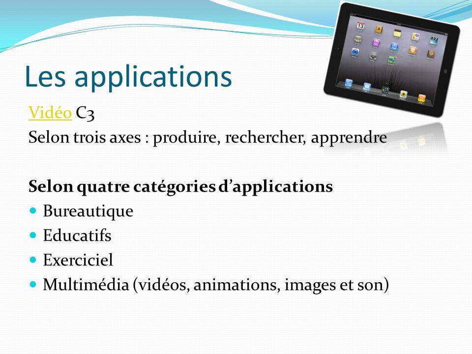 Découverte des applications installées Testez-les toutes .