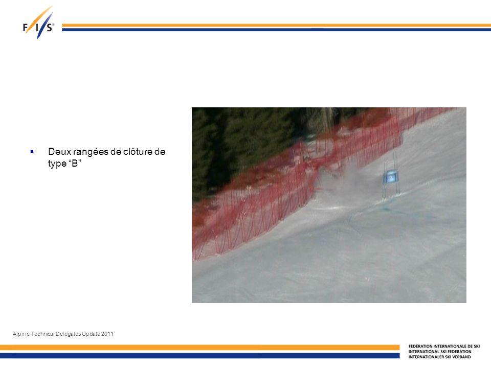 Deux rangées de clôture de type B Alpine Technical Delegates Update 2011