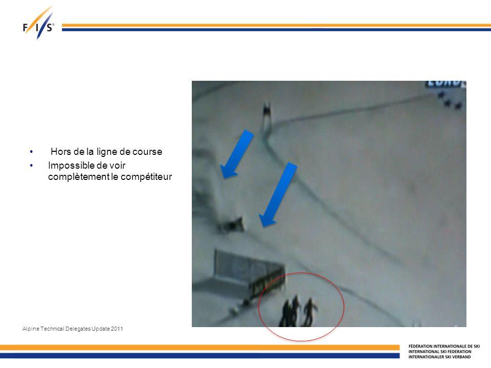 Hors de la ligne de course Impossible de voir complètement le compétiteur Alpine Technical Delegates Update 2011