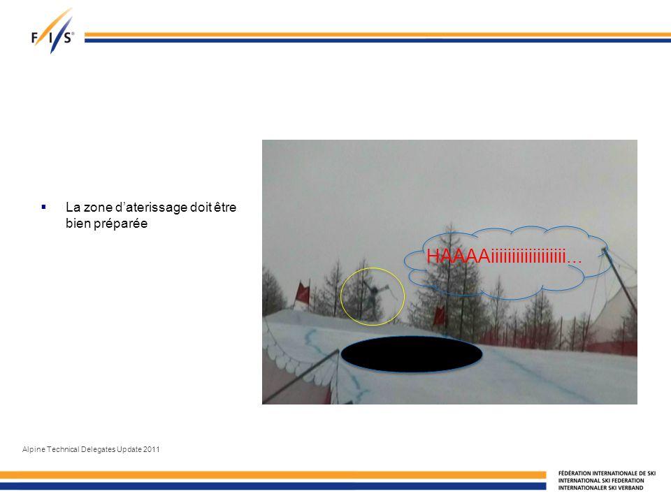 La zone daterissage doit être bien préparée Alpine Technical Delegates Update 2011 HAAAAiiiiiiiiiiiiiiiiii...