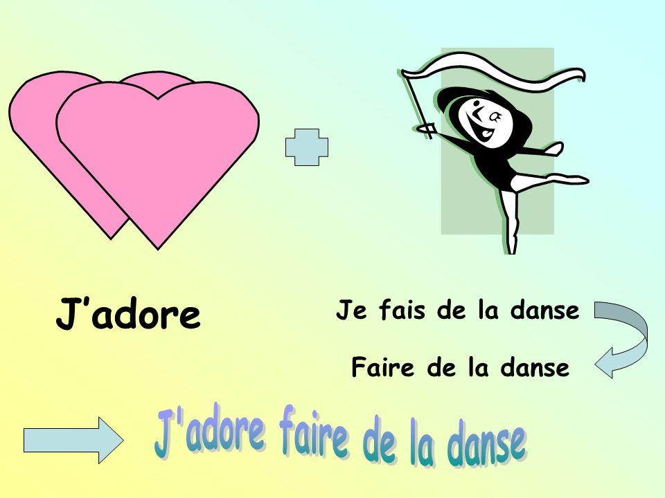 Jadore Je fais de la danse Faire de la danse