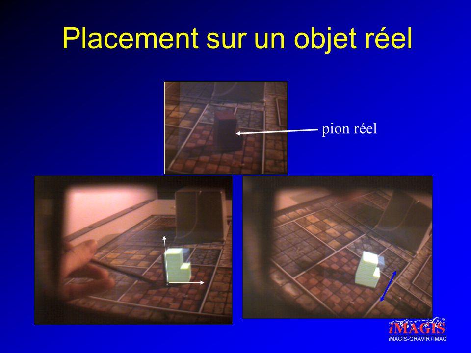 iMAGIS-GRAVIR / IMAG Placement sur un objet réel pion réel