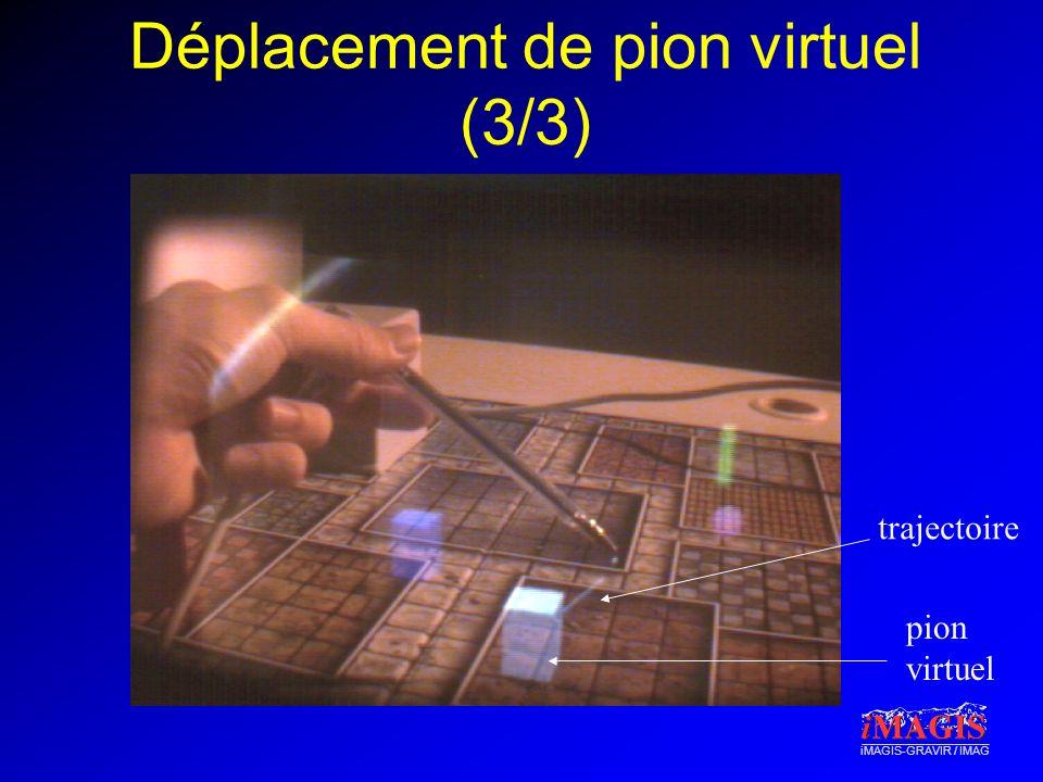 iMAGIS-GRAVIR / IMAG Déplacement de pion virtuel (3/3) trajectoire pion virtuel