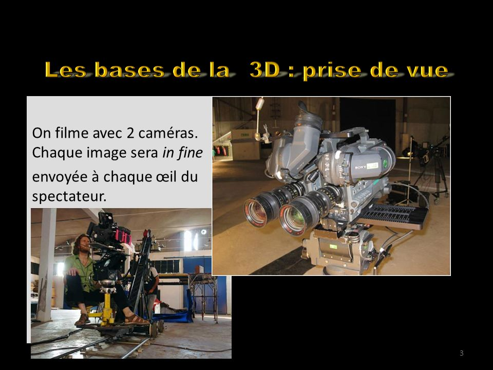 How to shoot in 3D for the web 2 caméras parallèles, sur un support TRES rigide.