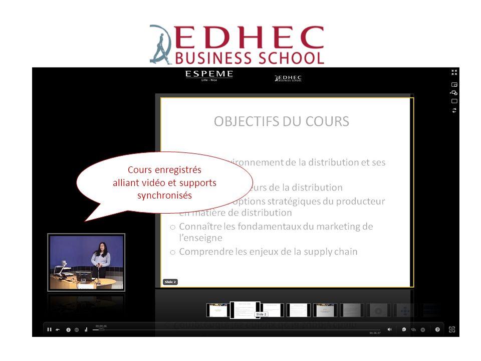 ESPEME Cours enregistrés alliant vidéo et supports synchronisés