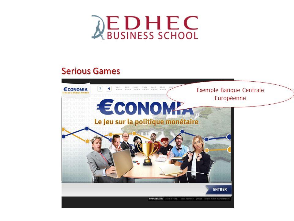 Exemple Banque Centrale Européenne Serious Games