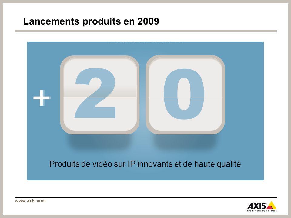 www.axis.com + Founded in 1984 2 0 + Lancements produits en 2009 Produits de vidéo sur IP innovants et de haute qualité