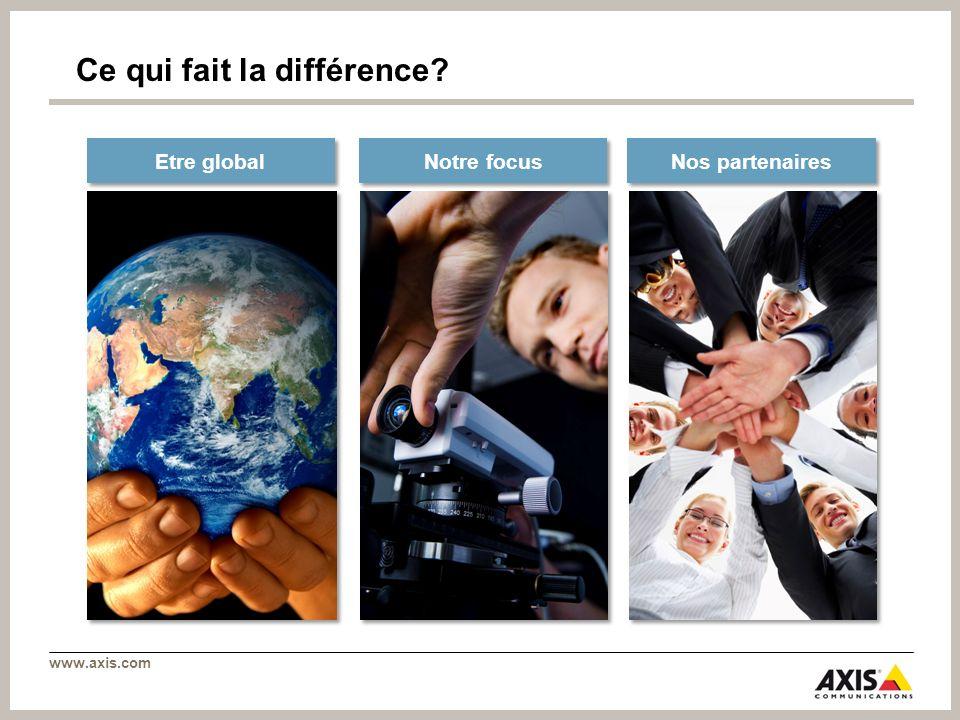 www.axis.com Ce qui fait la différence? Notre focus Nos partenaires Etre global