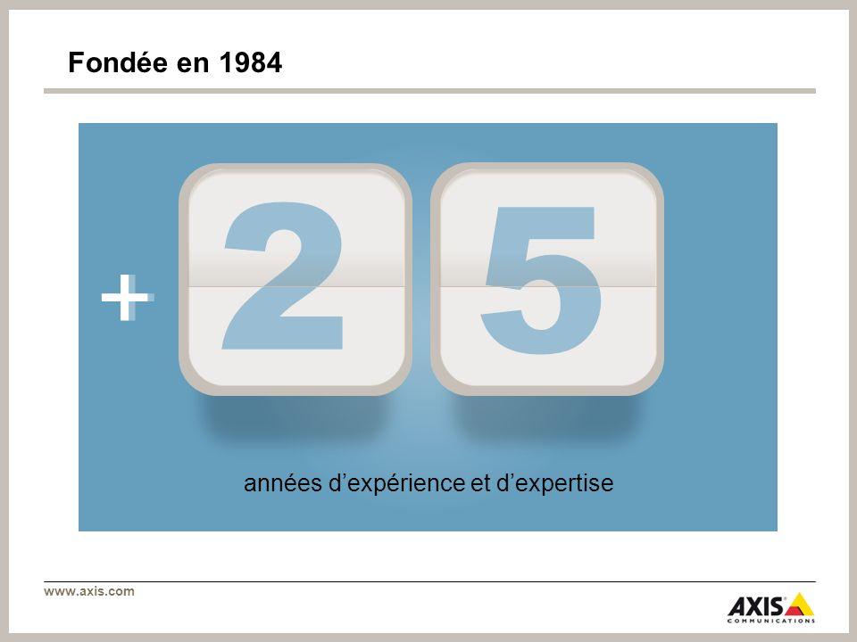 www.axis.com + 2 5 Fondée en 1984 années dexpérience et dexpertise +