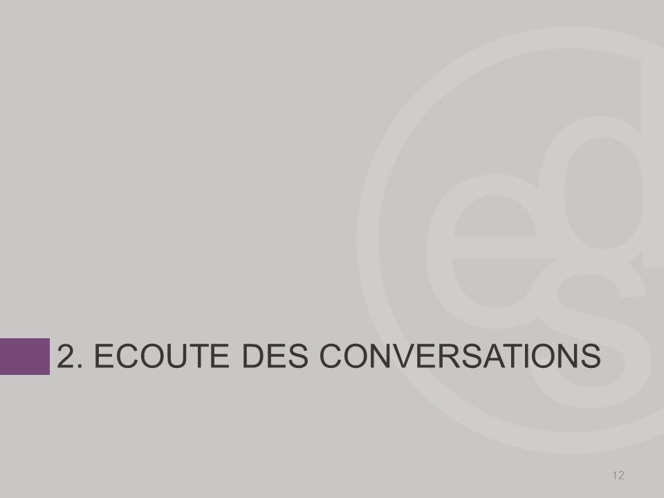 2. ECOUTE DES CONVERSATIONS 12