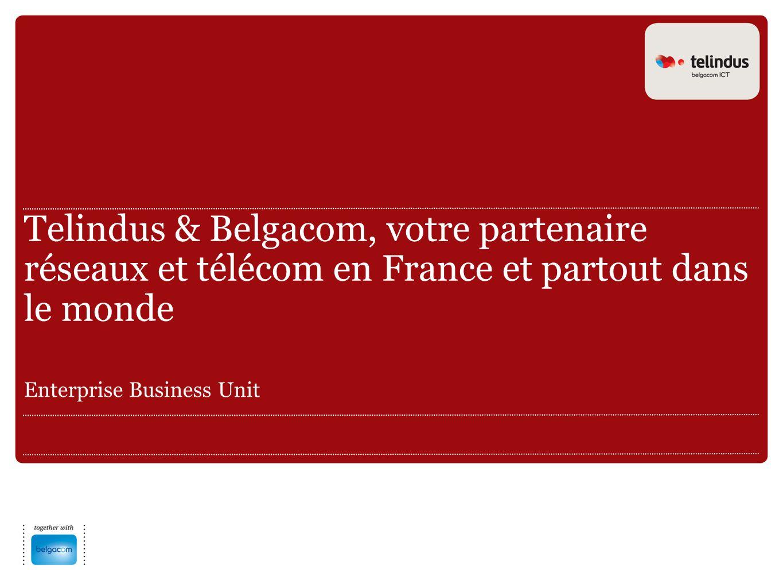 Telindus & Belgacom, votre partenaire réseaux et télécom en France et partout dans le monde Enterprise Business Unit