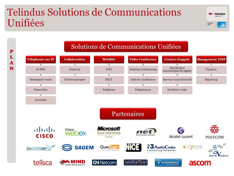 Telindus Solutions de Communications Unifiées Solutions de Communications Unifiées Partenaires