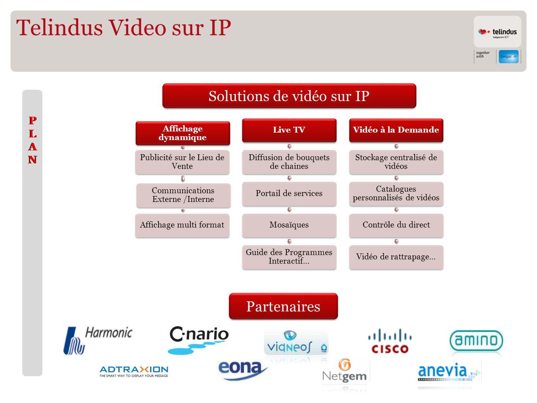 Telindus Video sur IP Partenaires Solutions de vidéo sur IP