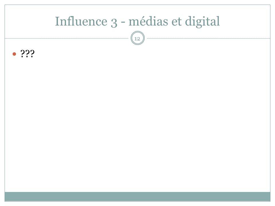 Influence 3 - médias et digital 12