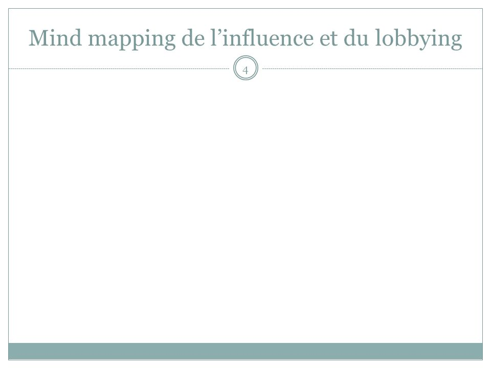 Mind mapping de linfluence et du lobbying 4