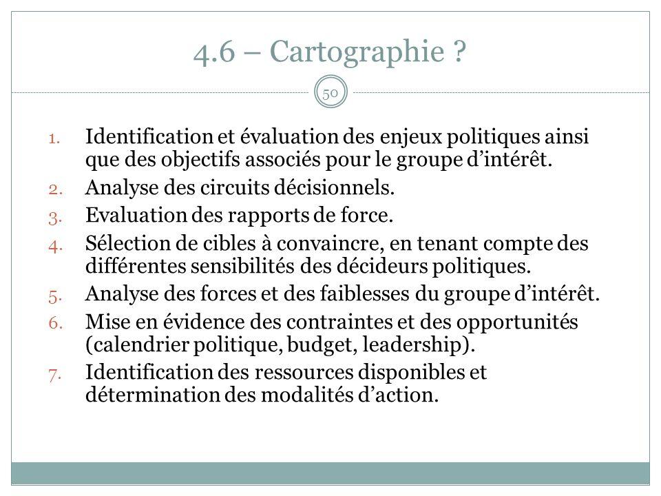 4.6 – Cartographie . 1.