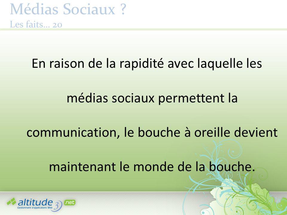 Médias Sociaux .