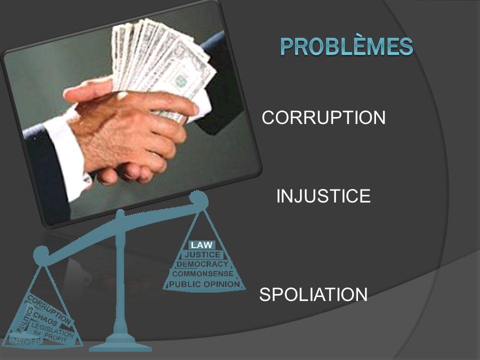 CORRUPTION INJUSTICE SPOLIATION