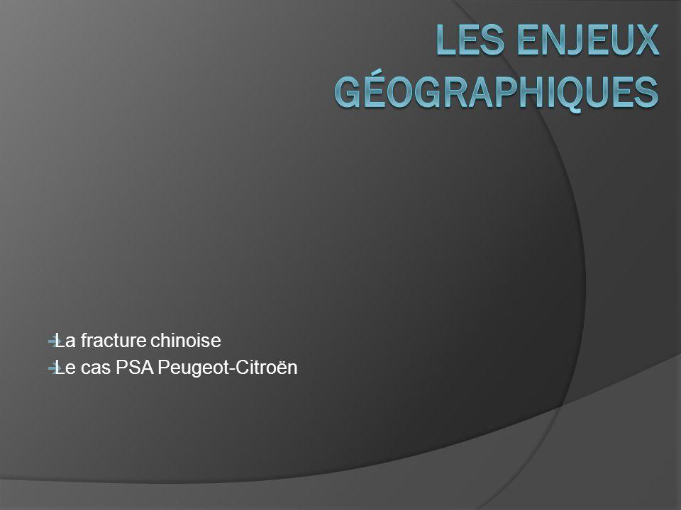 La fracture chinoise Le cas PSA Peugeot-Citroën