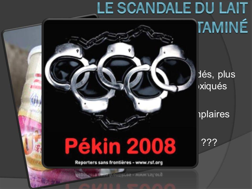 2008 6 enfants décédés, plus de 300 000 intoxiqués Sanctions exemplaires Affaire étouffée ???