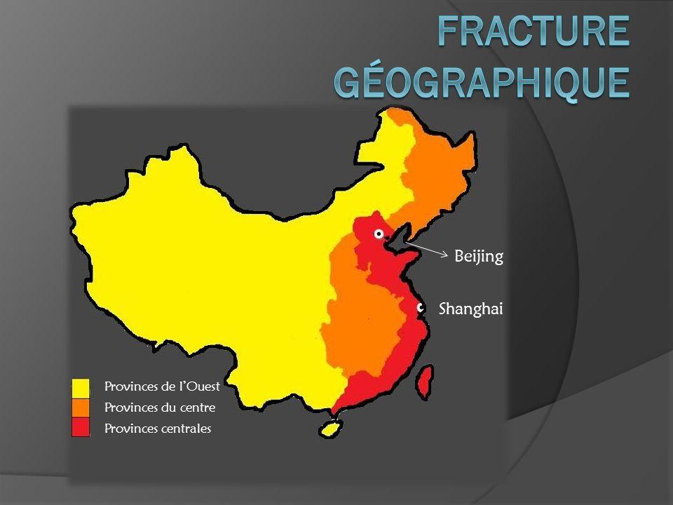 Provinces de lOuest Provinces du centre Provinces centrales Beijing Shanghai