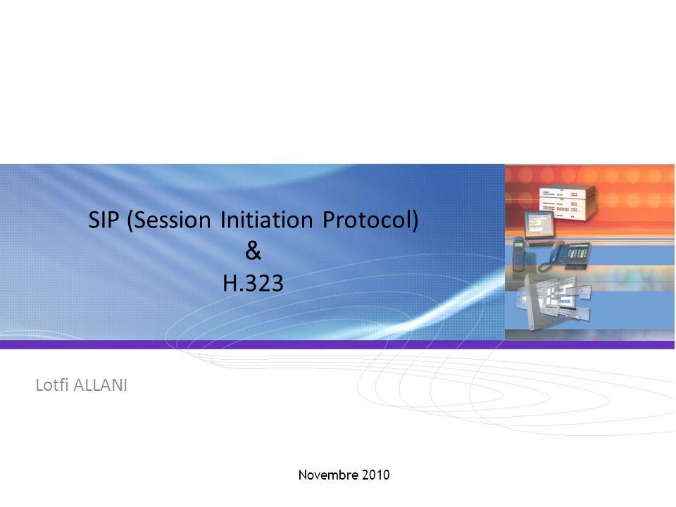 SIP / H.323 SIP - Session Initiation Protocol (2/7) SIP = Gérer les phases dun appel téléphonique -Localisation dun terminal (adresse) -Analyse du profil de la source et de ses ressources (disponibilité) -Négociation du type de média et des paramètres de communication (voix ou vidéo, codecs…) -Etablissement et suivi de lappel -Gestion de fonctionnalités avancées telles que le cryptage, erreurs… Le principe