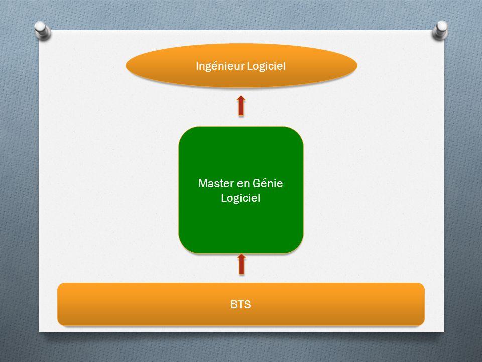 Ingénieur Logiciel BTS Master en Génie Logiciel