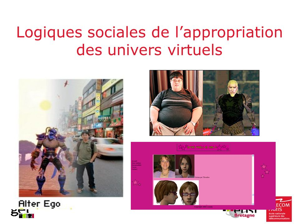 Logiques sociales de lappropriation des univers virtuels