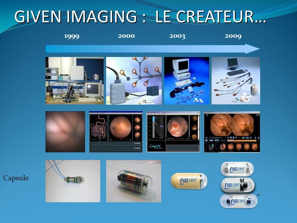 Capsule 1999200920002003 * GIVEN IMAGING : LE CREATEUR…