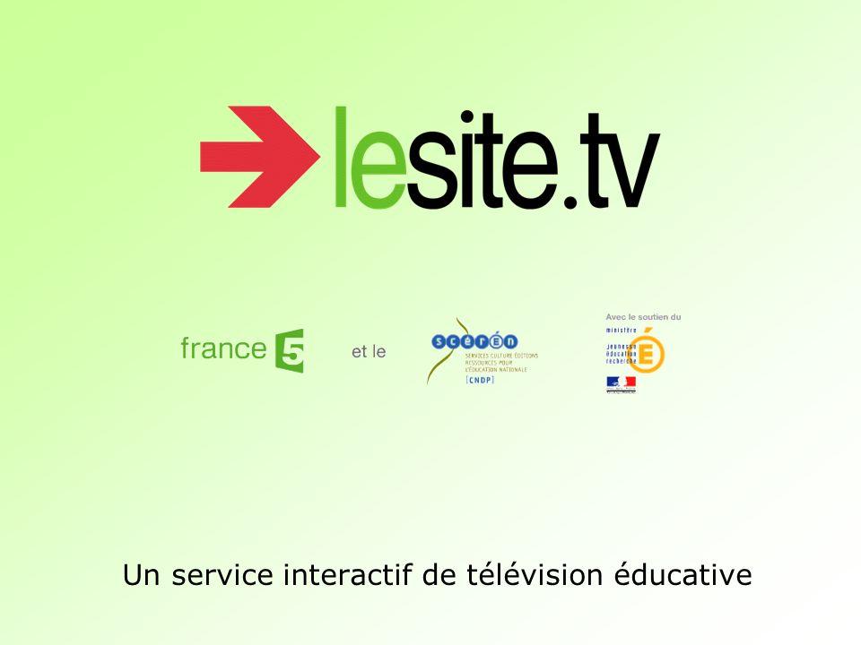 Un service interactif de télévision éducative
