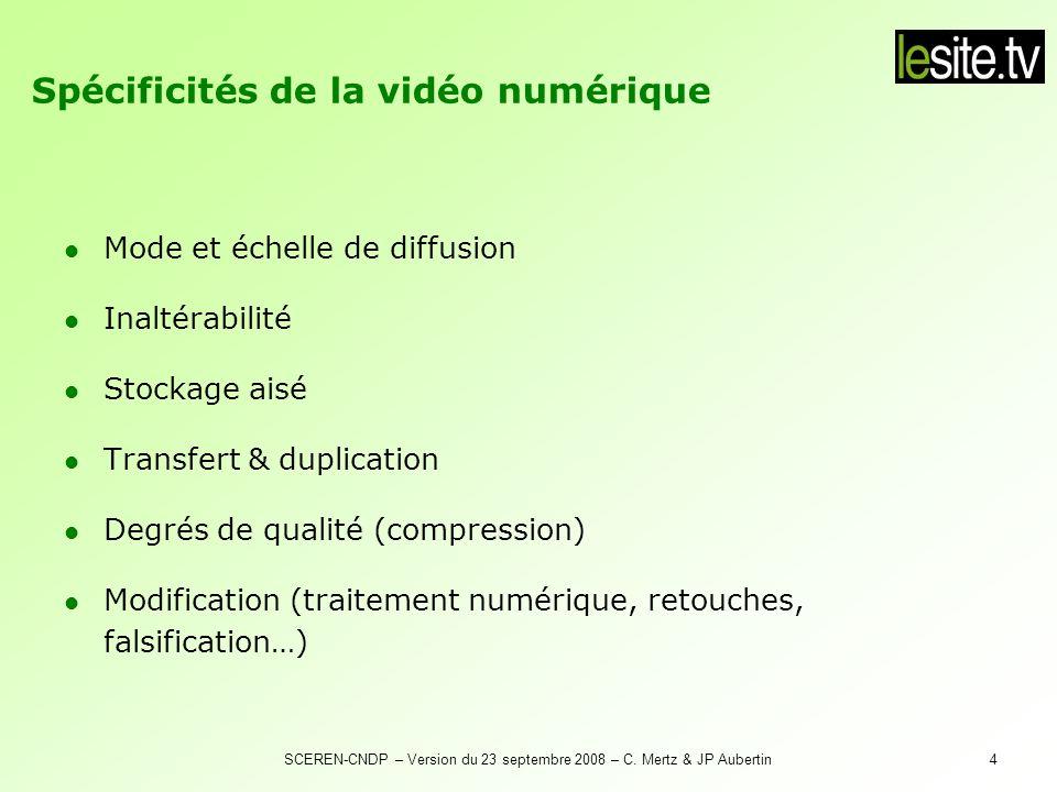 SCEREN-CNDP – Version du 23 septembre 2008 – C.Mertz & JP Aubertin15 Le site.tv : pourquoi .
