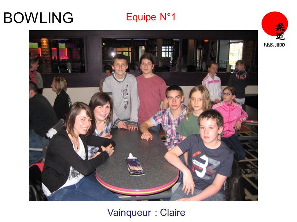 BOWLING Equipe N°1 Vainqueur : Claire