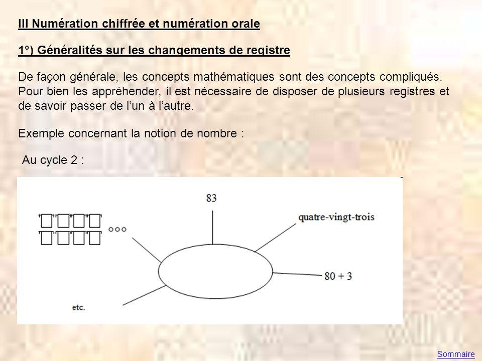 Propositions de Joannie Carole et Alain Solano–Séréna tirées du document « le nombre au cycle 2 » récemment mis en ligne sur le site Eduscoldocument « le nombre au cycle 2 » Sommaire