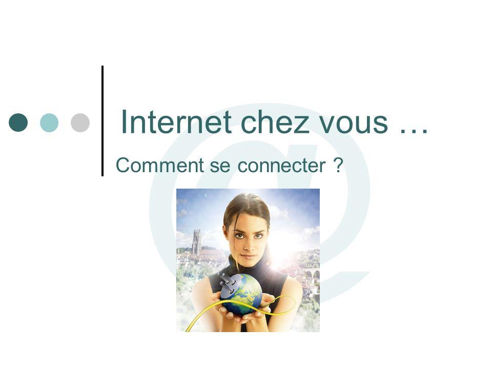 Internet chez vous … Comment se connecter ?