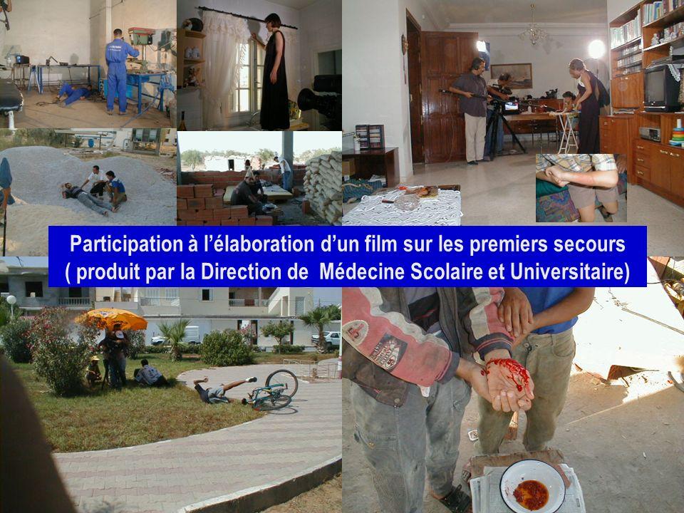 26/04/2014SAMU / CESU 0327 Participation à lélaboration dun film sur les premiers secours ( produit par la Direction de Médecine Scolaire et Universit