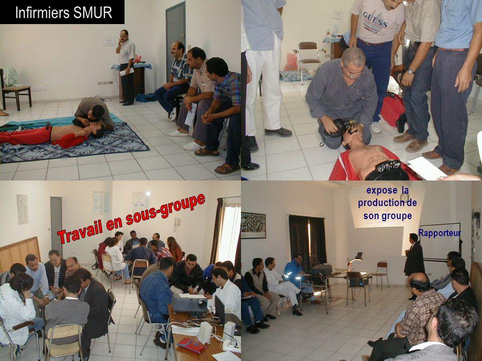 26/04/2014SAMU / CESU 0333 Infirmiers SMUR expose la production de son groupe Rapporteur