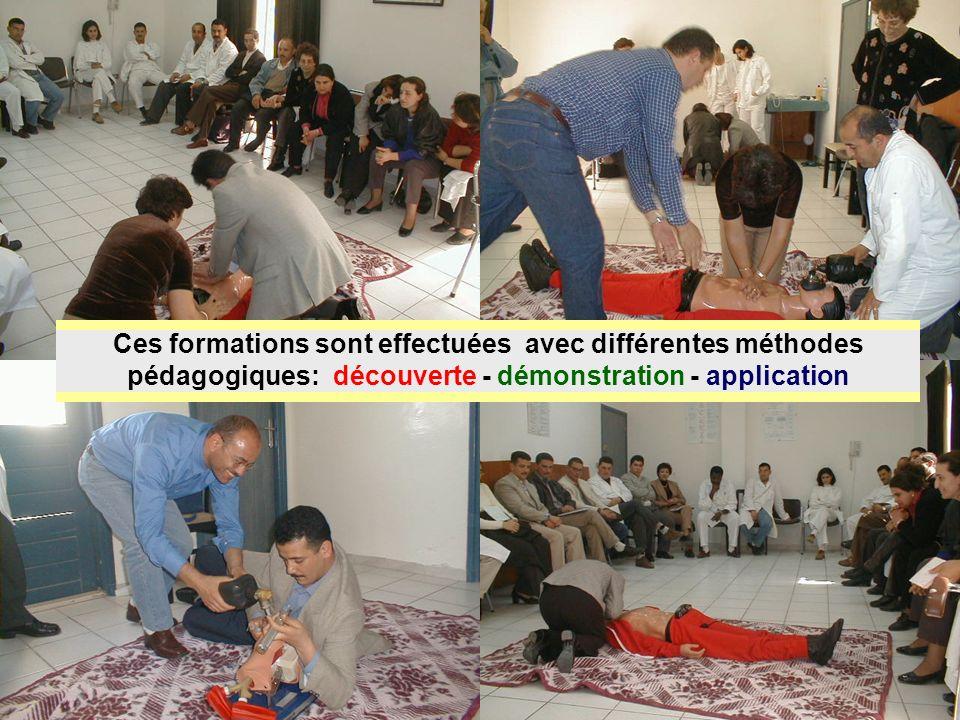 26/04/2014SAMU / CESU 0338 Ces formations sont effectuées avec différentes méthodes pédagogiques: découverte - démonstration - application