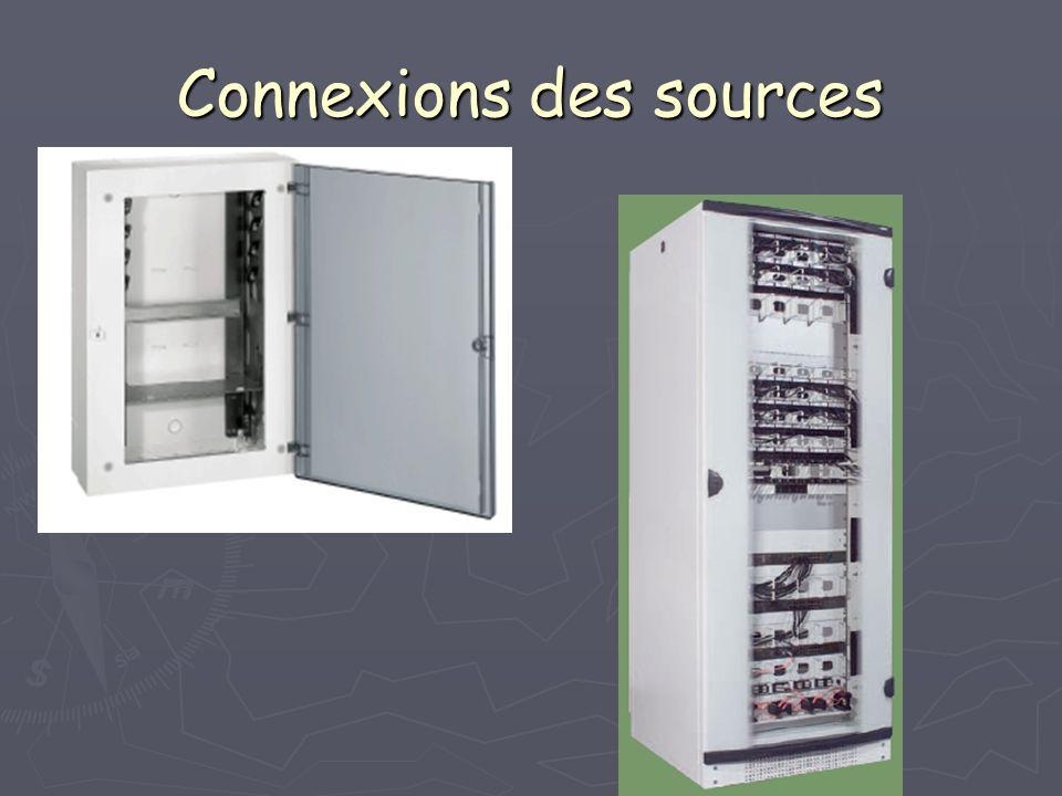 Connexions des sources