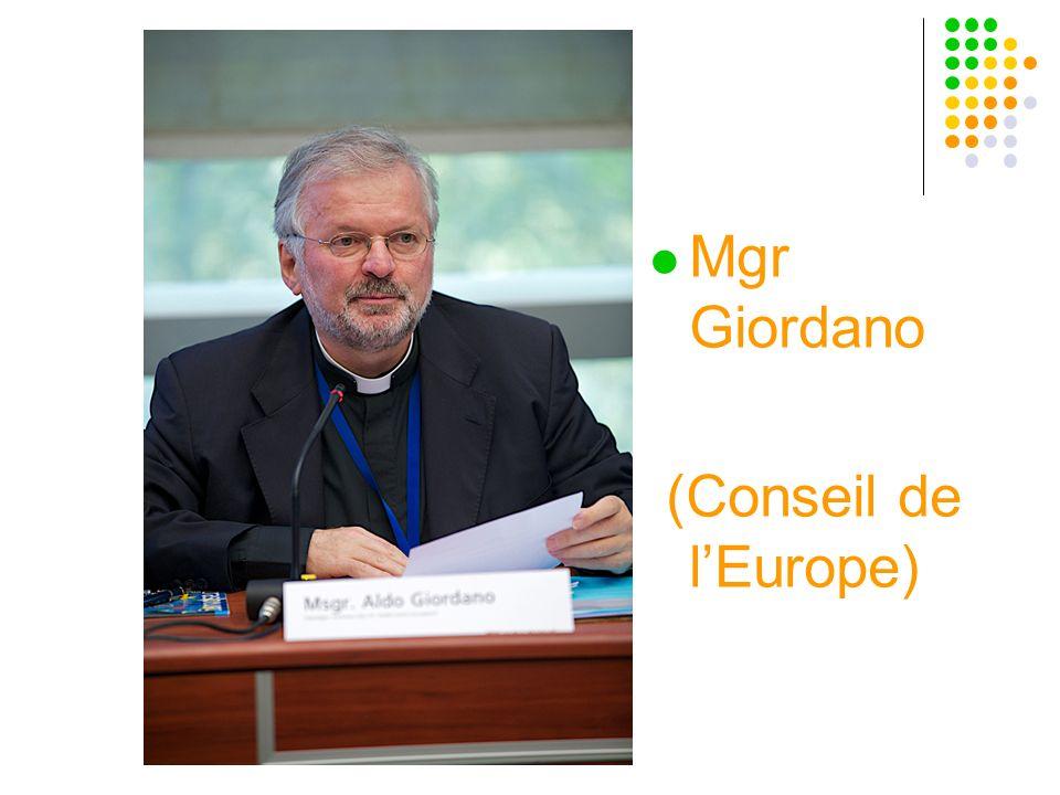 Mgr Giordano (Conseil de lEurope)