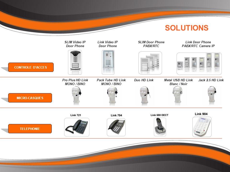 SOLUTIONS CONTROLE DACCESMICRO-CASQUESTELEPHONIE Link Door Phone PABX/RTC Camera IP SLIM Door Phone PABX/RTC Link Video IP Door Phone SLIM Video IP Do