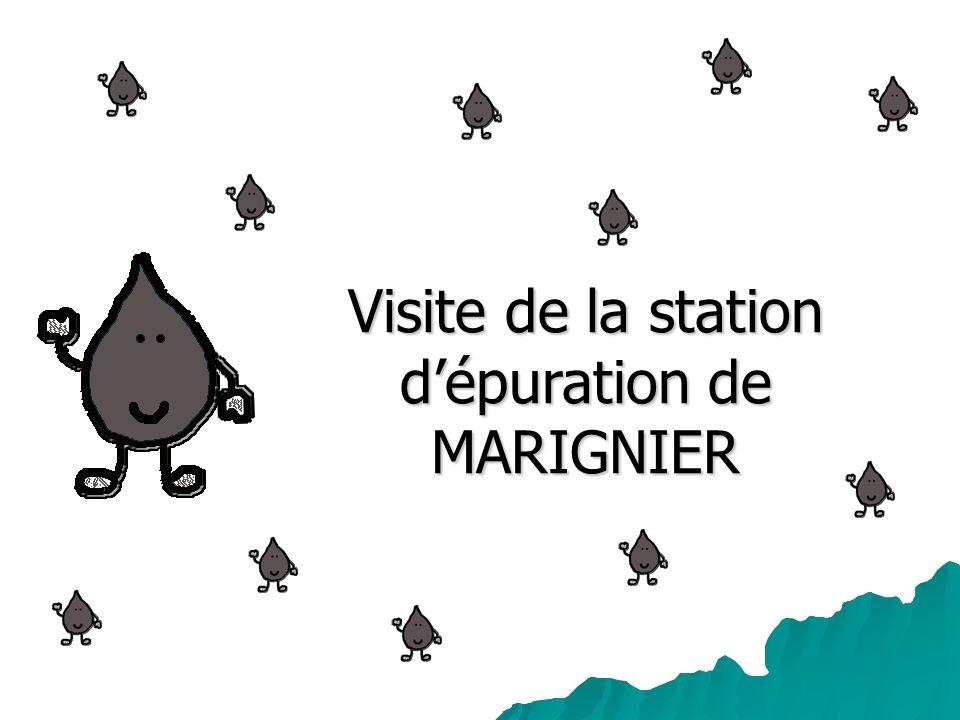 Visite de la station dépuration de MARIGNIER