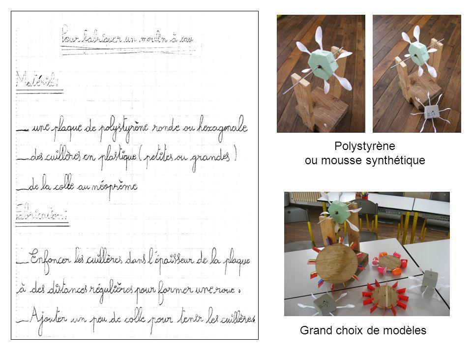 Grand choix de modèles Polystyrène ou mousse synthétique