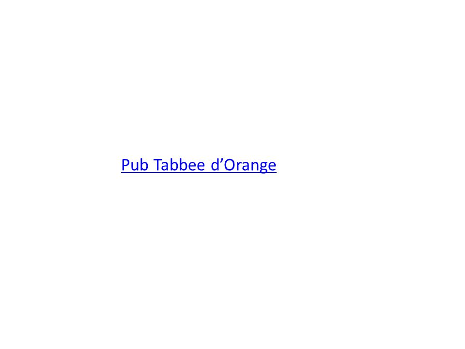 Pub Tabbee dOrange